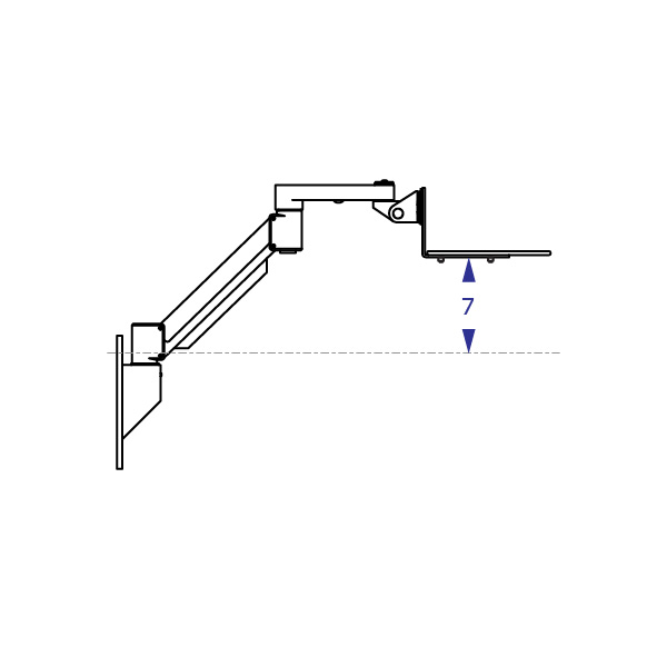 Wall mount maximum height